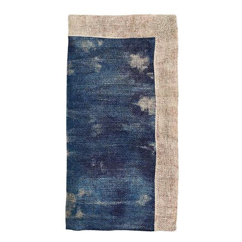 Dip Dye Gauze Cotton Napkin, Cobalt/Natural, set of 4 by Kim Seybert