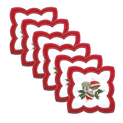 Hollyday Cocktail Napkins, set of 6 by Kim Seybert