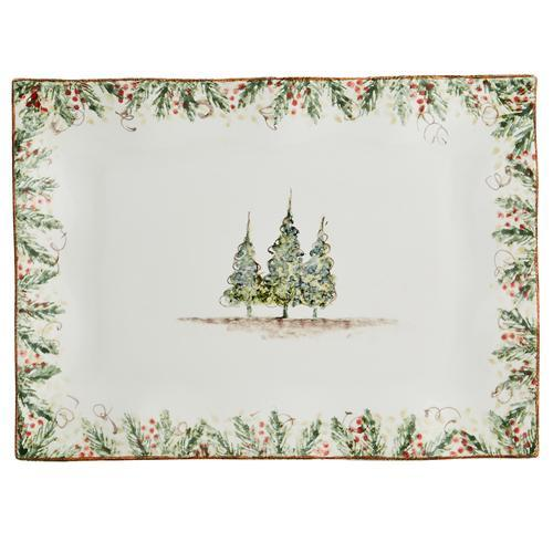 "Natale 15"" Medium Rectangular Tray by Arte Italica"