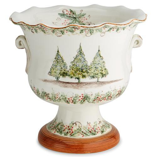 "Natale 13"" Footed Cachepot Planter by Arte Italica"