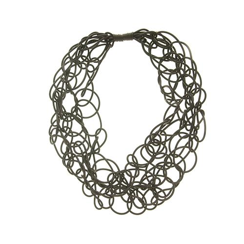 COLL03 Neo Neoprene Rubber Twisted Necklace by Neo Design Italy