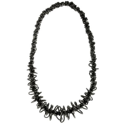 COLL12 Neo Neoprene Rubber Curly Necklace by Neo Design Italy
