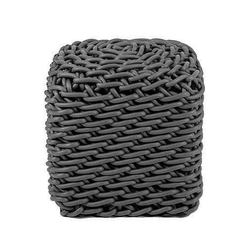 PO1 Neoprene Rubber Square Pouf by Neo Design Italy