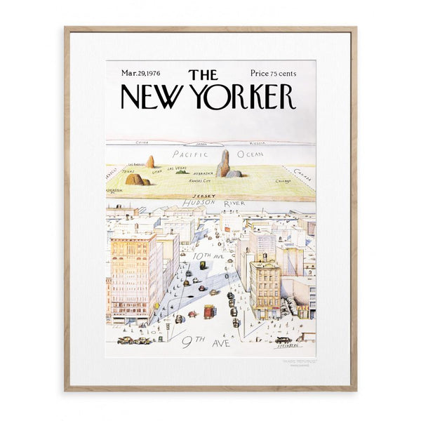 The New Yorker 'View from New York' Cover by Steinberg