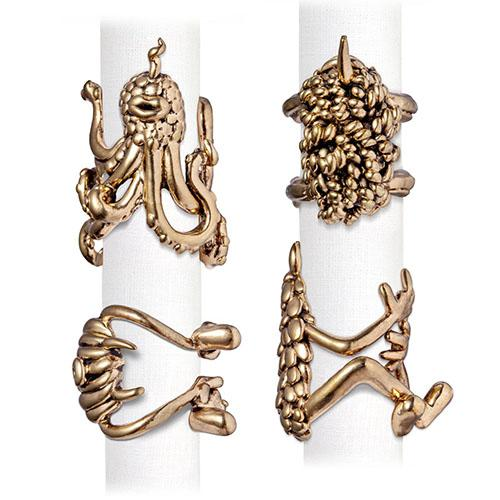 Haas Monster Ball Napkin Rings, set of 4 by L'Objet