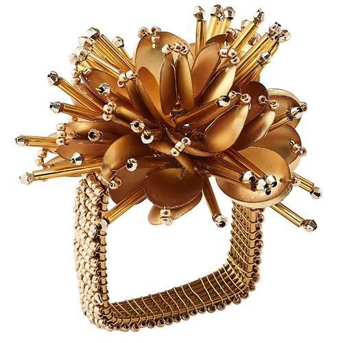 Starburst Gold Napkin Ring by Kim Seybert