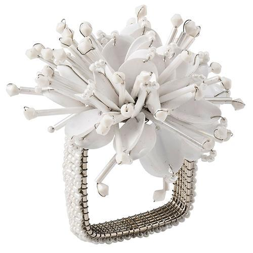 Starburst White Napkin Ring by Kim Seybert