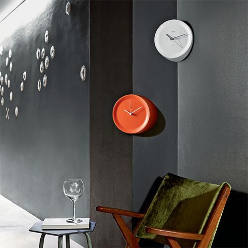 Ora Out Edge Mounted Wall Clock by Giulio Iacchetti for Alessi