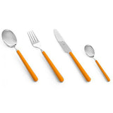 Fantasia Orange Flatware by Mepra