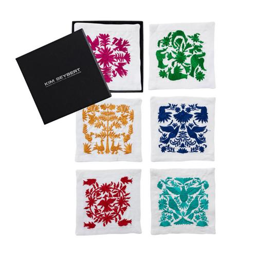 Otomi Cocktail Napkins, set of 6 by Kim Seybert
