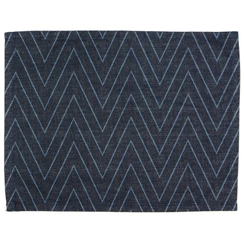 Denim Herrinbone Pinstripe Rectangular Placemat by Mi Cocina