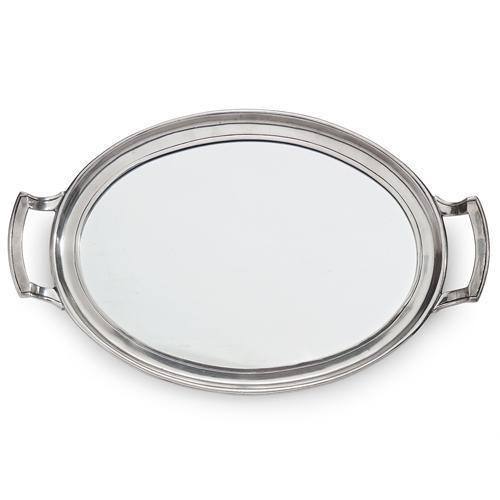 "Roma 17.75"" Mirror Tray with Handles by Arte Italica"