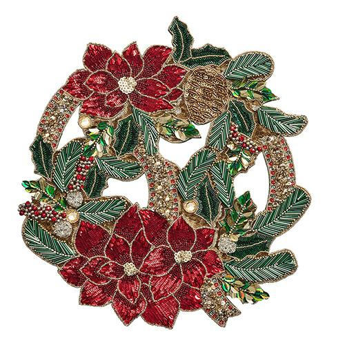 Xmas Poinsettia Placemats, Set of 2 by Kim Seybert