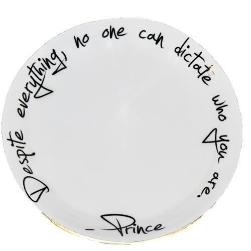 Lunares Prince Quote Serving Bowl by Nima Oberoi