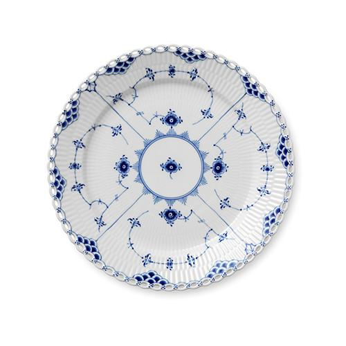 Blue Fluted Full Lace Dinner Plate by Royal Copenhagen