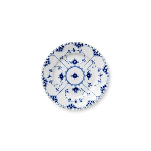 Blue Fluted Full Lace Bread & Butter Plate by Royal Copenhagen