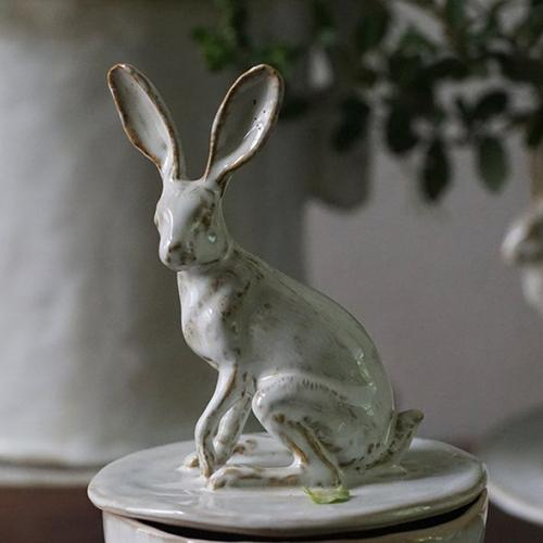 "Rabbit 10.2"" Lidded Canister by Yarnnakarn Ceramics"