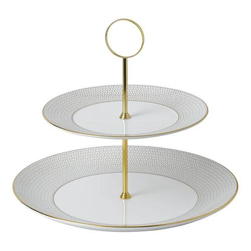 Arris Two-Tier Cake Stand by Wedgwood