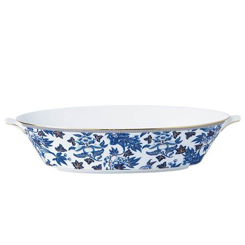 "Hibiscus Oval Serving Bowl, 13"" by Wedgwood"