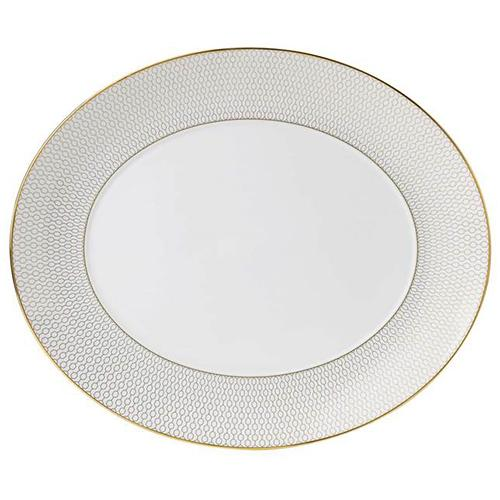 "Arris Oval Serving Platter, 13.8"" by Wedgwood"