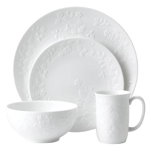 Wild Strawberry White 4-Piece Place Setting by Wedgwood