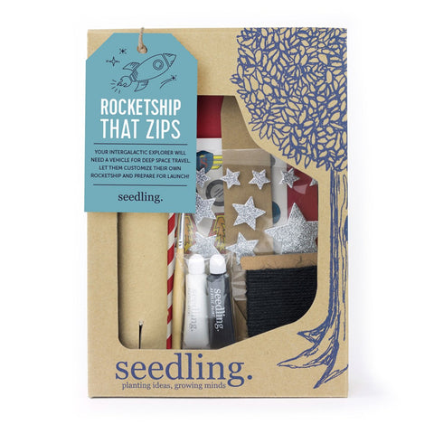 A Rocket Ship That Zips Kit by Seedling
