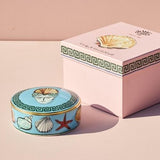 Il Viaggio di Nettuno Sea Blue Round Box Outside Box by Luke Edward Hall for Richard Ginori