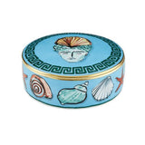 Il Viaggio di Nettuno Sea Blue Round Box by Luke Edward Hall for Richard Ginori