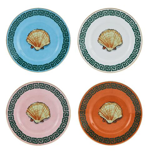 Il Viaggio di Nettuno Mix of Bread Plates, Set of 4 by Luke Edward Hall for Richard Ginori
