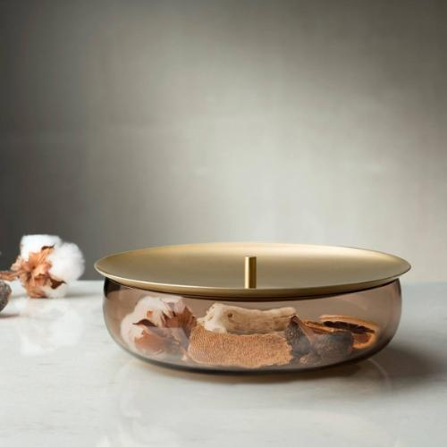 Beret Lidded Storage Glass by Sebastian Herkner for Nude