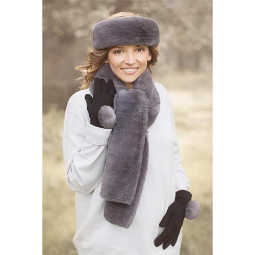 Faux Fur Scarf by Evelyne Prelonge Paris