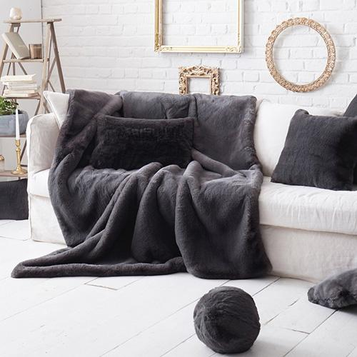 Faux Fur Throw Pillow Covers by Evelyne Prelonge Paris