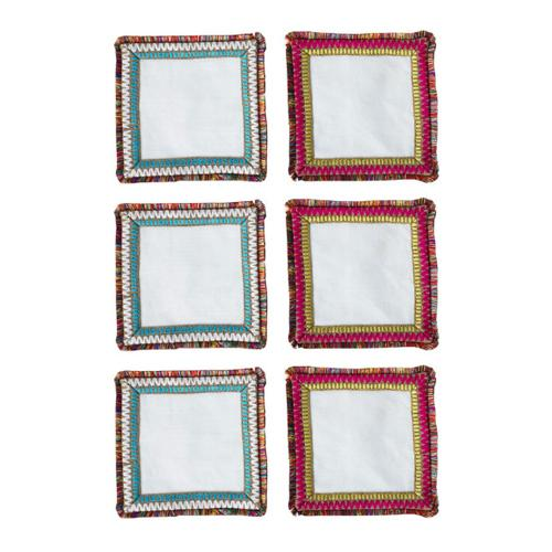 Spectrum Cocktail Napkins, set of 6 by Kim Seybert