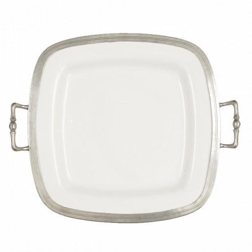 Tuscan Square Tray with Handles by Arte Italica
