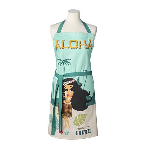 Aloha Hawaii Apron by MISTERATOMIC