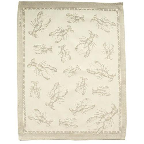"Lobster Natural Cotton Kitchen Towel, 31"" x 22"", Set of 4 by Abbiamo Tutto"