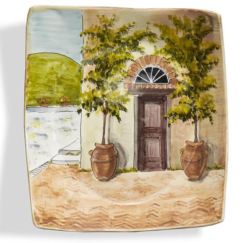 "Toscana 9.75"" Brown Door Wall Plate by Arte Italica"