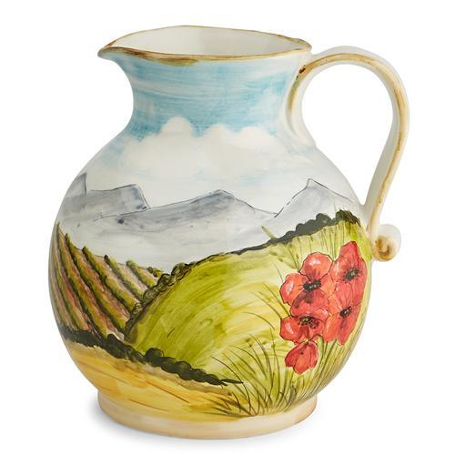 Toscana 50 oz Pitcher with Poppies by Arte Italica