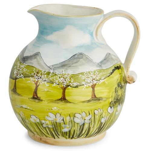 Toscana 50 oz Pitcher with White Blossoms by Arte Italica