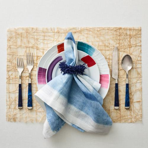 Tangle Placemat, Natural in a lifestyle image with other products