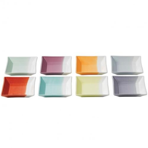 1815 Bright Colors Square Tray Set by Royal Doulton