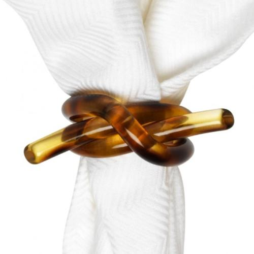 Tortoise Knot Napkin Ring by Juliska