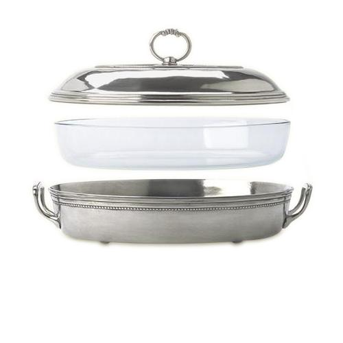 Toscana Pyrex Casserole Dish with Lid, Large by Match Pewter