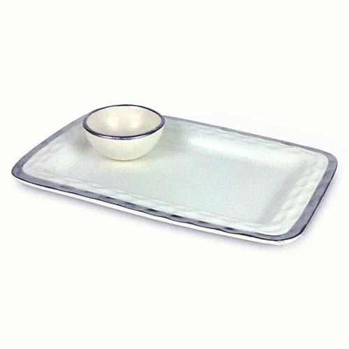 "Truro Giftware Platinum Chip and Dip, 12.5"" by Michael Wainwright"