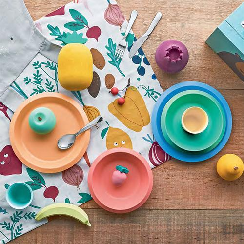 Giro Kids Melamine Tableware Set by UNStudio for Alessi