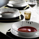 Black Fluted Mega Oblong Dish by Royal Copenhagen