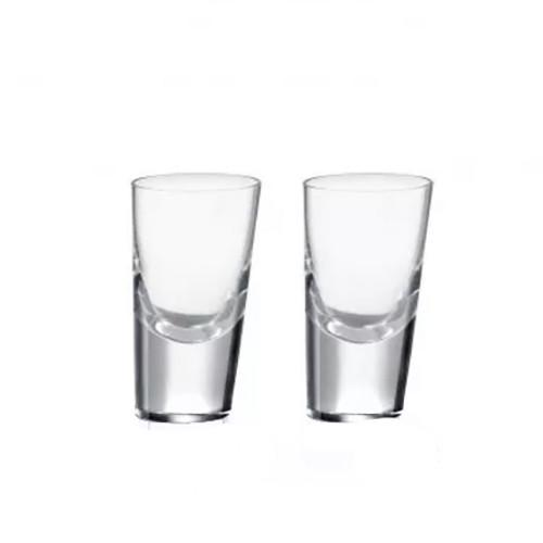 90 Degrees Shot Glasses, Set of 2 by Rogaska 1665