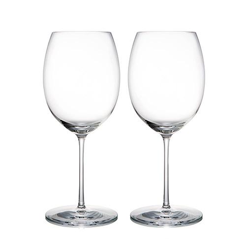 "Expert Red Wine Glasses, 10"", Set of 2 by Rogaska 1665"
