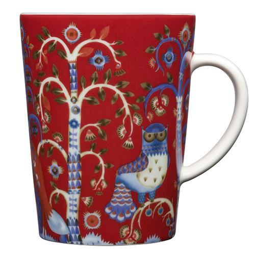 Taika Red Mug by Iittala