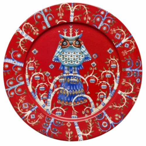 "Taika Red Dinner Plate, 10.75"" by Iittala"